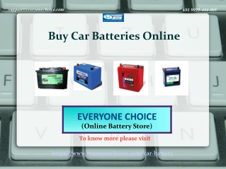 Buy The Best Car Batteries Online