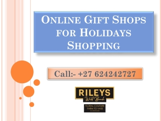 Online Gift Shops for Holidays Shopping