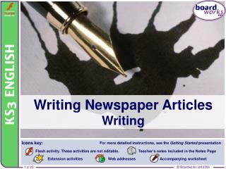 Writing Newspaper Articles Writing