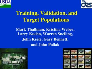 Training, Validation, and Target Populations