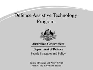 Defence Assistive Technology Program
