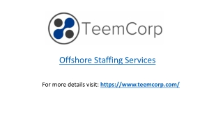 Offshore Staffing Services