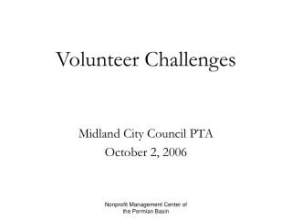 Volunteer Challenges