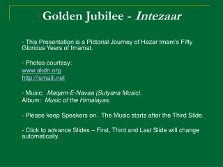 Golden Jubilee -  Intezaar