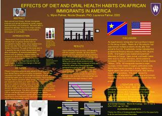 EFFECTS OF DIET AND ORAL HEALTH HABITS ON AFRICAN IMMIGRANTS IN AMERICA  L. Wynn Palmer, Nicole Okazaki, PhD, Laurence P