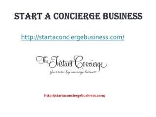 Starting A Concierge Service