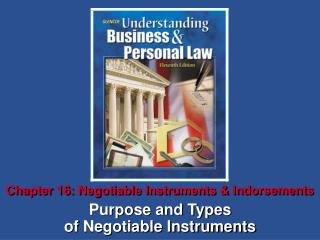 Chapter 16: Negotiable Instruments & Indorsements