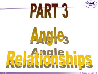 PART 3 Angle  Relationships