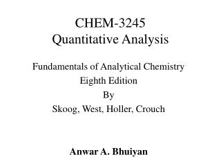 CHEM-3245 Quantitative Analysis