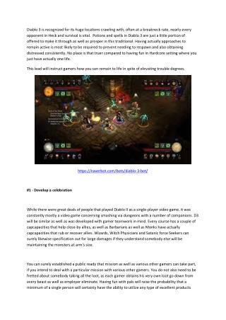 Top 5 Diablo 3 tips