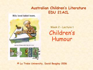Australian Children's Literature EDU 21ACL