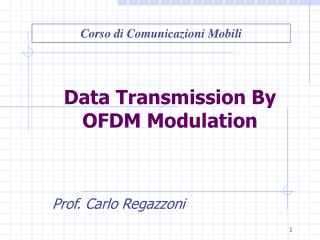 Data Transmission By OFDM Modulation