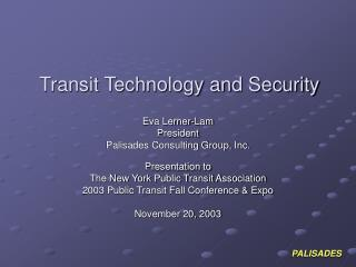 Transit Technology and Security