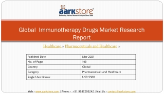 Global  Immunotherapy Drugs Markets Research Report | Aarkstore