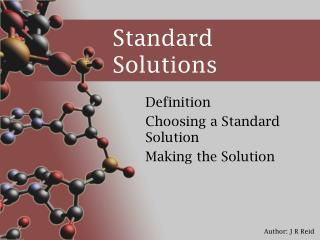 Standard Solutions