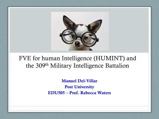 Manuel Del-Villar Post University EDU505 – Prof. Rebecca Waters