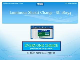 Buy Luminous Shakti Charge-SC 18054 (150Ah) Online