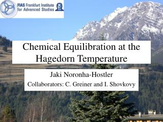Chemical Equilibration at the Hagedorn Temperature