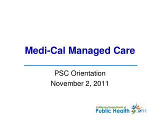 Medi-Cal Managed Care