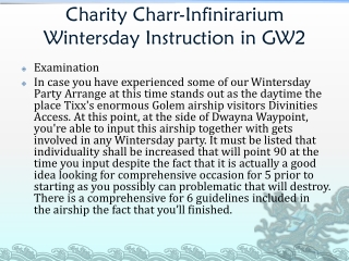 Charity Charr-Infinirarium Wintersday Instruction in GW2