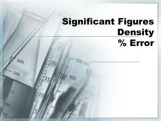 Significant Figures Density % Error