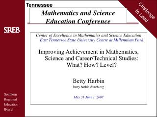 Mathematics and Science  Education Conference