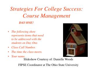 Strategies For College Success: Course Management