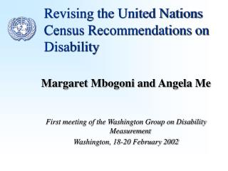 Revising the United Nations Census Recommendations on Disability