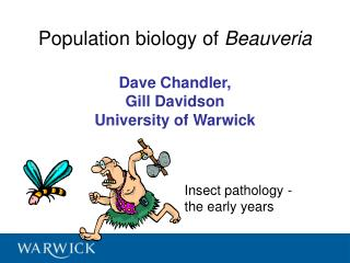 Population biology of  Beauveria Dave Chandler,  Gill Davidson University of Warwick