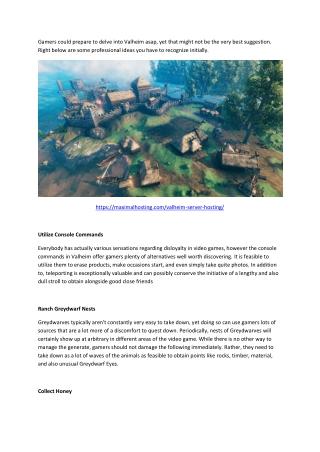 5 Pro Tips for Valheim