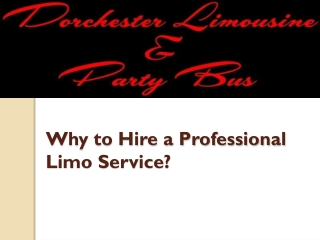 Hire a Professional Party Limo Service in London