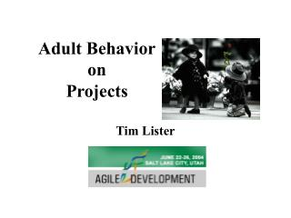 Adult Behavior on Projects