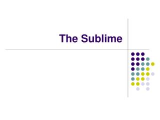 The Sublime