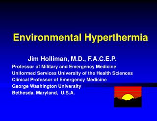 Environmental Hyperthermia