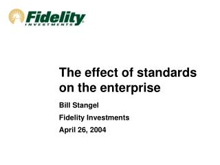 The effect of standards on the enterprise