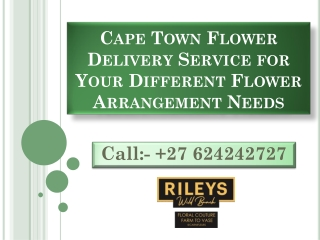 Cape Town Flower Delivery Service for Your Different Flower Arrangement Needs