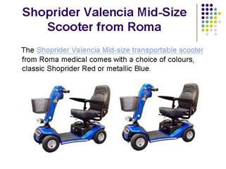 Shoprider Valencia mobility scooter
