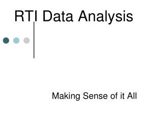 RTI Data Analysis