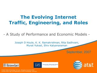 The Evolving Internet   Traffic, Engineering, and Roles