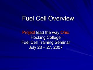 Fuel Cell Overview