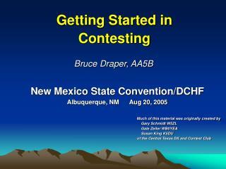 New Mexico State Convention/DCHF Albuquerque, NM Aug 20, 2005