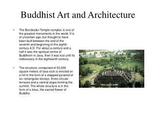 Buddhist Art and Architecture