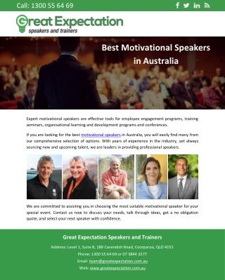 Best Motivational Speakers in Australia