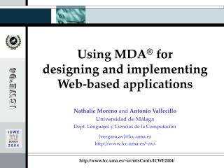 Using MDA ®  for  designing and implementing  Web-based applications