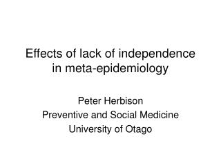 Effects of lack of independence in meta-epidemiology