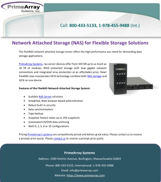 Network Attached Storage (NAS) for Flexible Storage Solutions