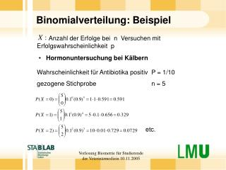 Binomialverteilung: Beispiel