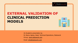External Validation of clinical prediction models - Statswork