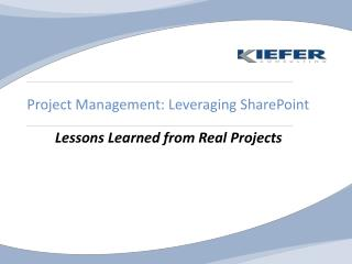 Project Management: Leveraging SharePoint