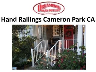 Hand Railings Cameron Park CA